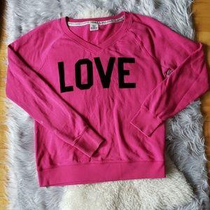 ❤ (3/$20) PINK VS: velvet lettering sweatshirt